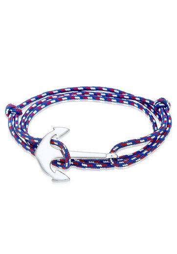Kuzzoi Armband »Wickelarmband Anker Maritim Meer 925 Silber«