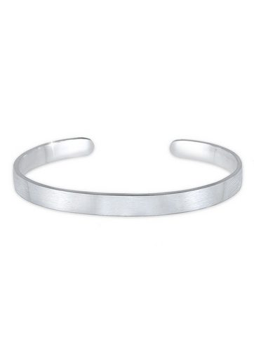 Kuzzoi Armband »Herren Basic Bangle Matt 925 Silber«