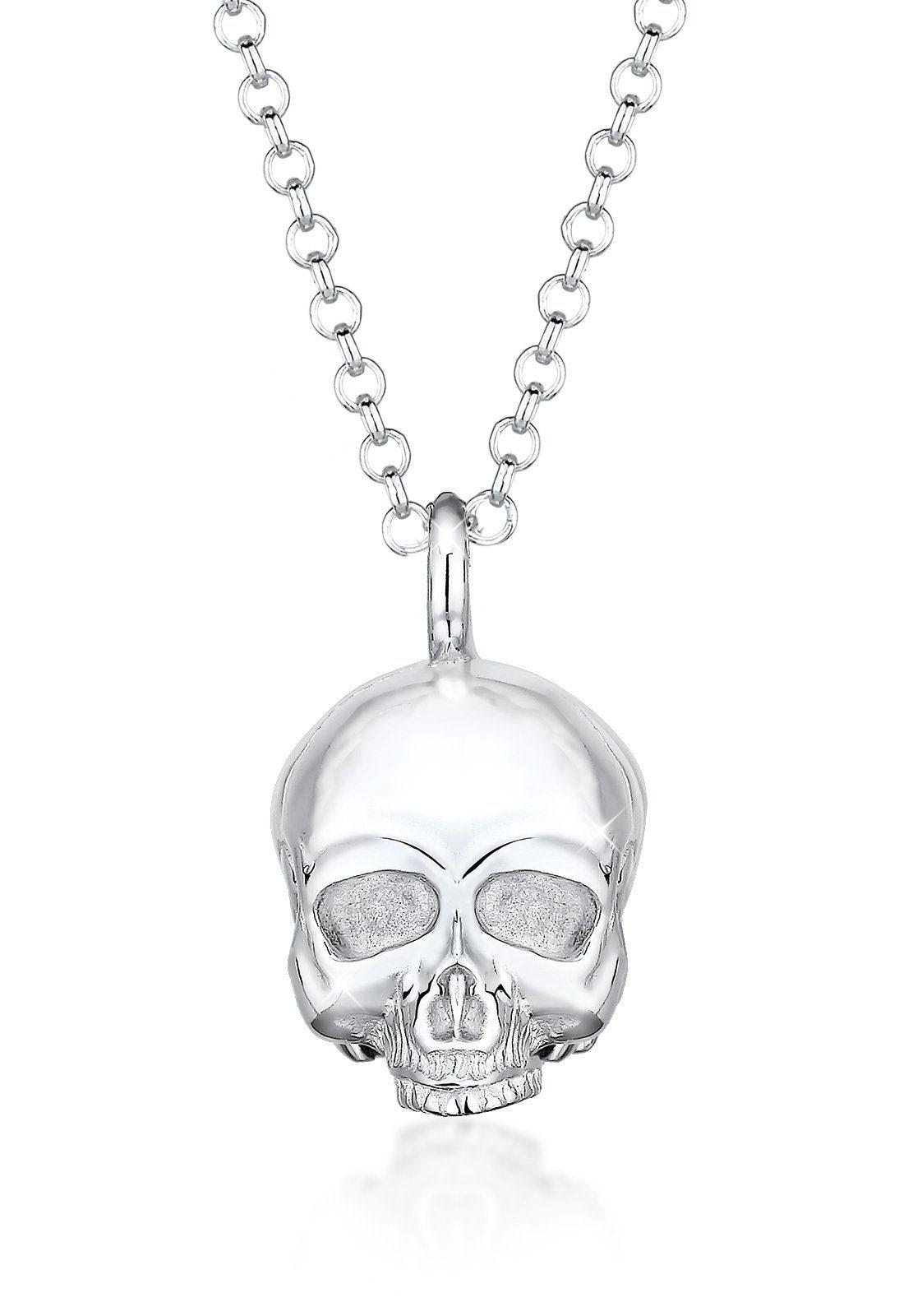 Paulo Fanello Silberkette »Totenkopf Schädel Gothic 925 Sterling Silber«