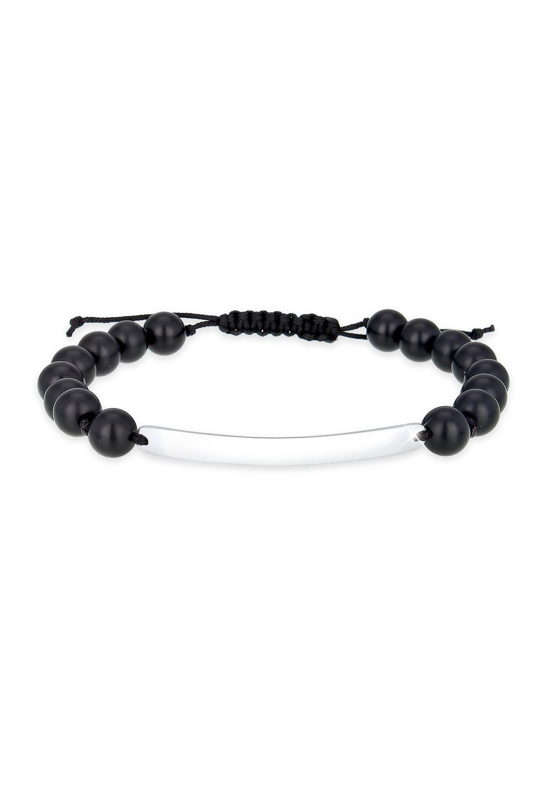 Paulo Fanello Armband »Onyx Edelstein Nylon 925 Sterling Silber«