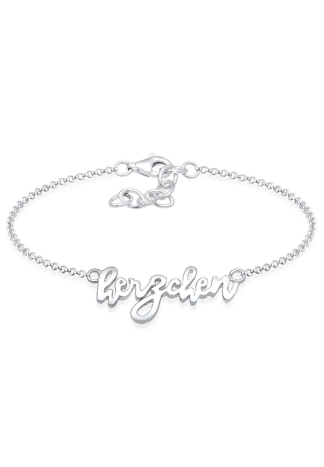 Elli Armband »Herzchen Wording Oktoberfest Wiesn 925 Silber«