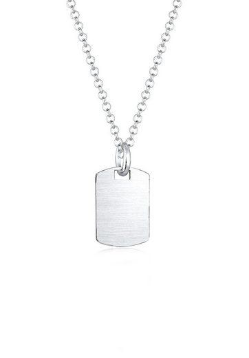 Kuzzoi Silberkette »Marke Military Platte Brushed 925 Sterling Silber«