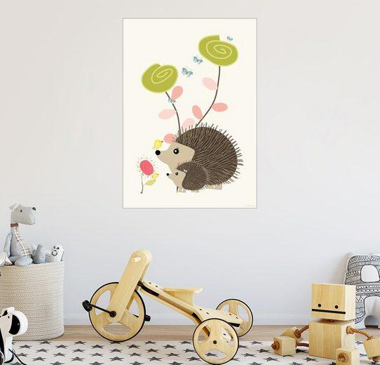 Posterlounge Wandbild - Zeit-Raum-Kunstdrucke »Igelchen«