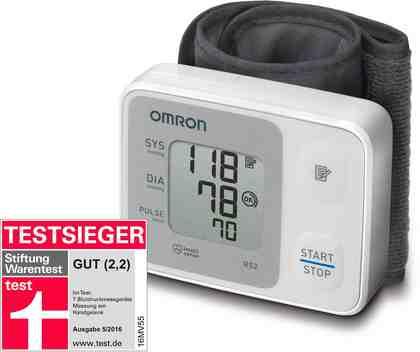 Omron Handgelenk-Blutdruckmessgerät RS2 (HEM-6121-D)
