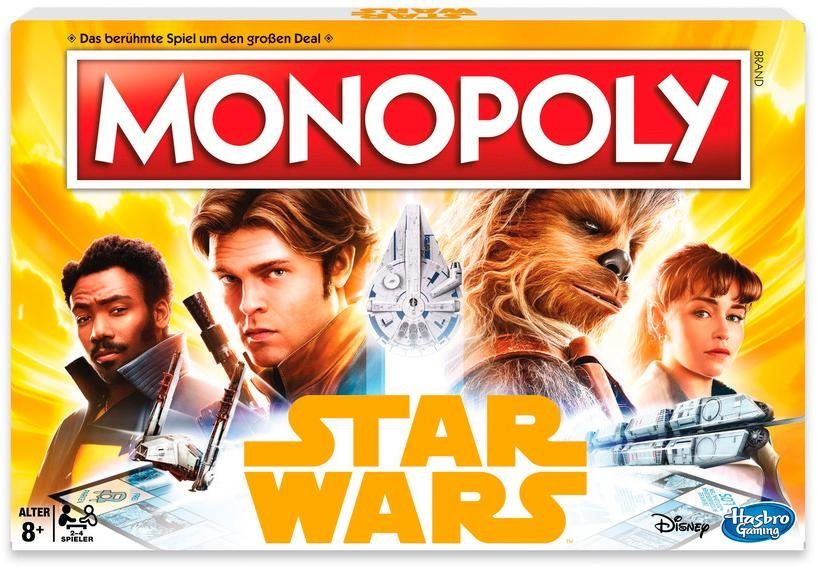 Hasbro Gesellschaftsspiel, »Monopoly Solo - A Star Wars Story«
