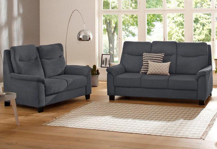 Home affaire 2-Sitzer + 3-Sitzer Set »Bocca« mit Federkern, incl. Kopfteilverstellung