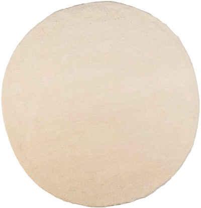 Wollteppich »Taza Royal«, THEKO, rund, Höhe 24 mm, echter Berber, reine Schurwolle, handgeknüpft, Wohnzimmer