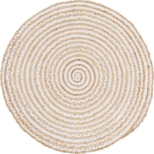 Teppich »Ethno«, Barbara Becker, rund, Höhe 4 mm, Obermaterial: 50% Baumwolle, 50% Jute