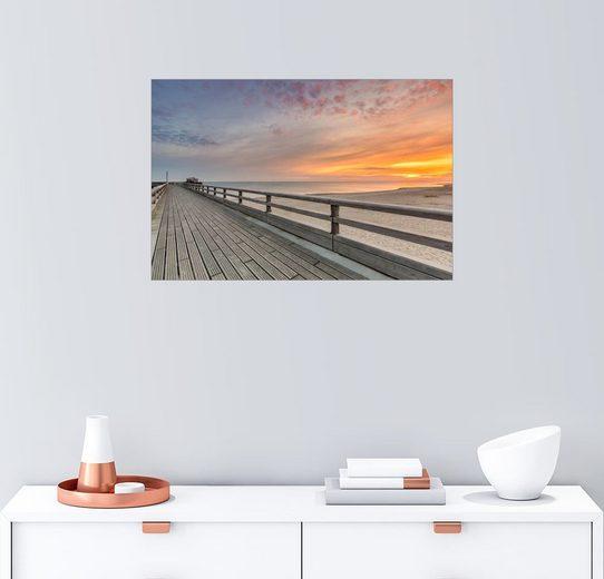 Posterlounge Wandbild - Dennis Stracke »Heiligenhafen Seebrücke Ostsee Fehmarn«