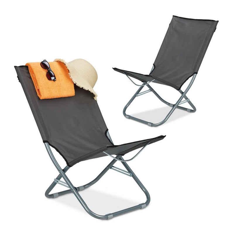 relaxdays Campingstuhl »Liegestuhl faltbar 2er Set«
