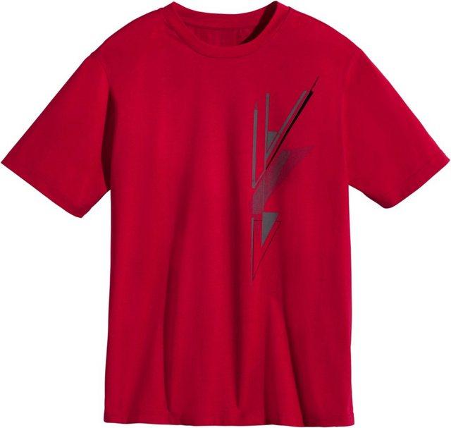 classic -  Shirt mit geripptem Rundhals-Ausschnitt