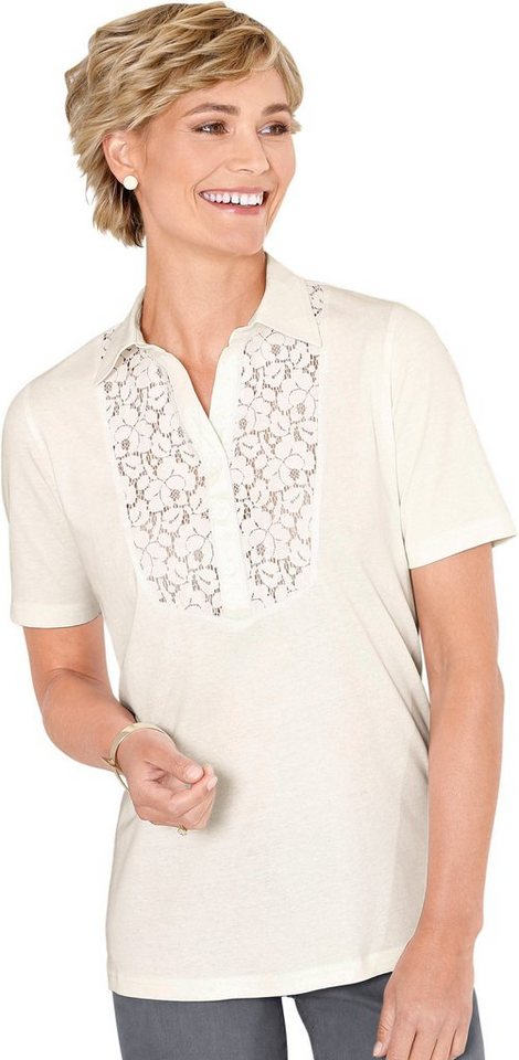 Classic Basics Poloshirt mit Spitze online kaufen   OTTO b6db786982
