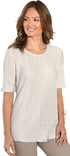 Classic Basics Shirt in effektvoller Plissee-Optik