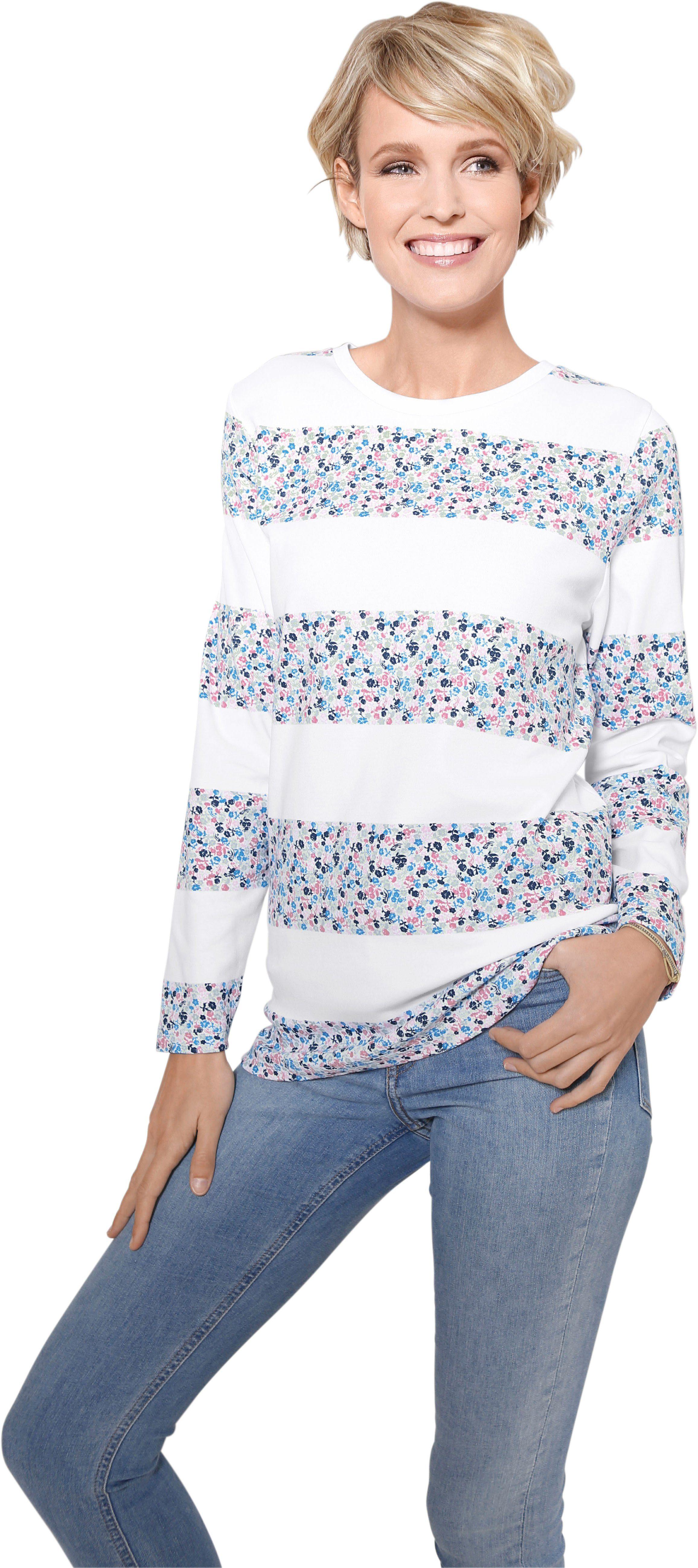 Classic Basics Sweatshirt mit Muster