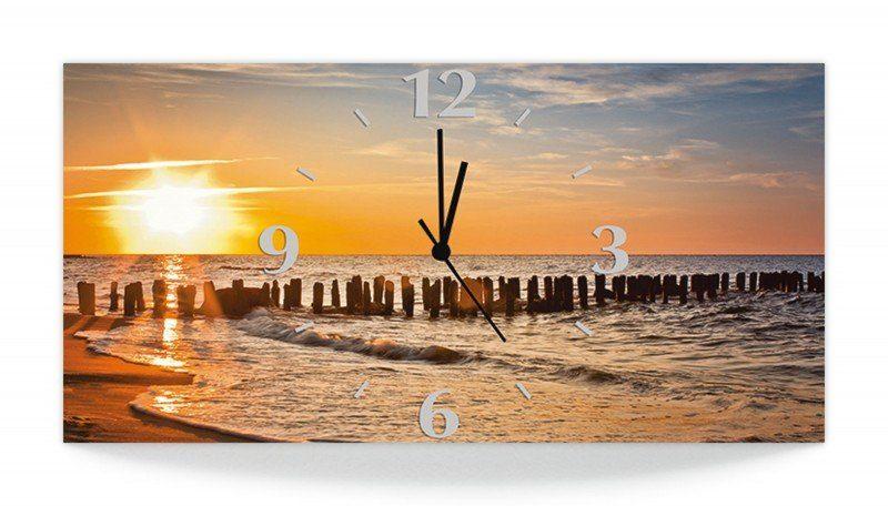 Artland Wanduhr »S. Decoret: Schöner Sonnenuntergang am Strand«