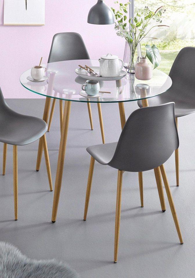 Glastisch rund durchmesser 100 cm online kaufen otto for Designer glastisch rund