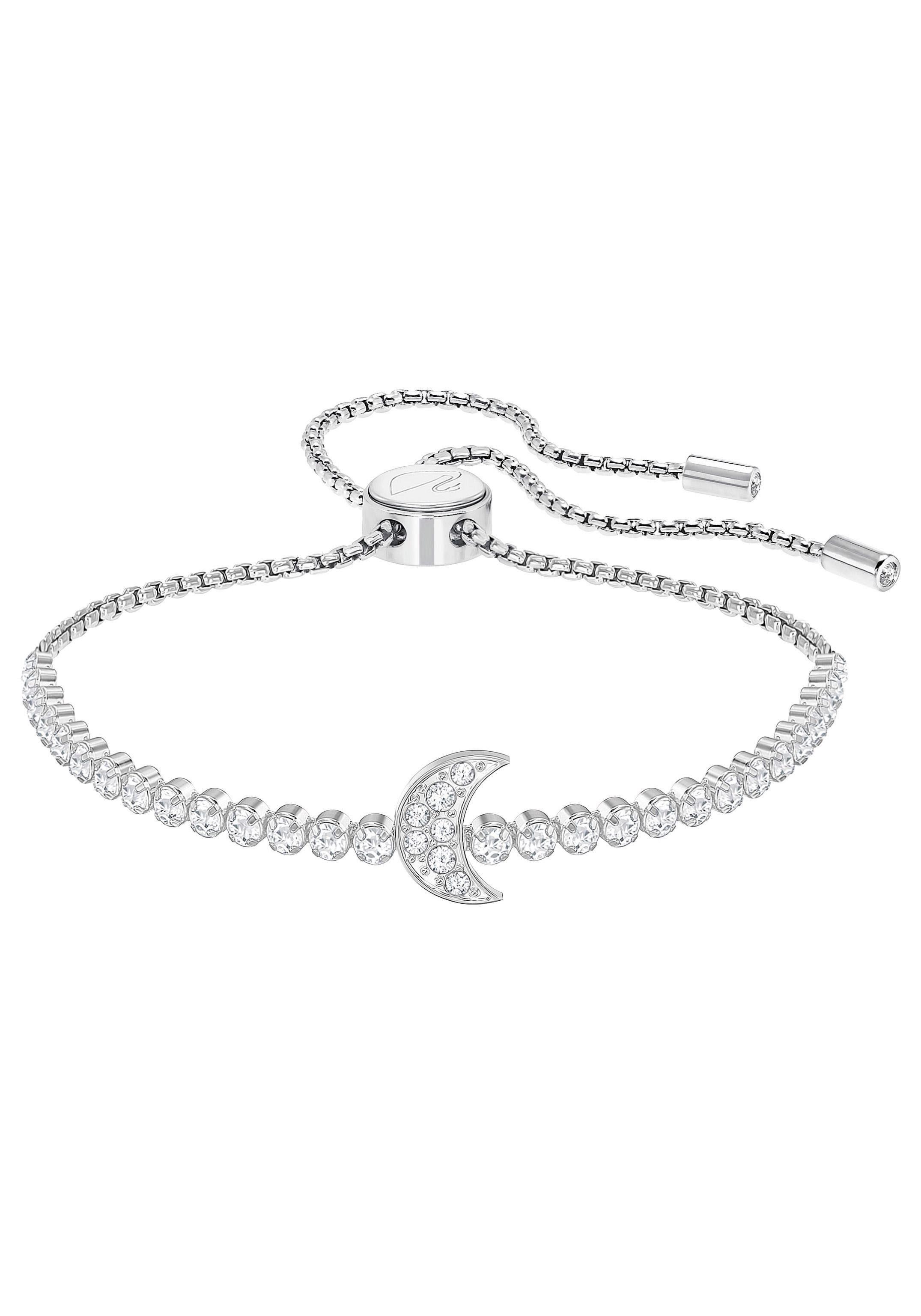 Swarovski Armband »Mond, Subtle Moon Armband, weiss, rhodiniert, 5349627« mit Swarovski® Kristallen