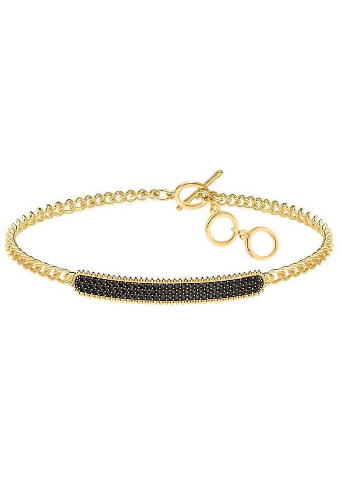 swarovski armband locket armband schwarz vergoldet. Black Bedroom Furniture Sets. Home Design Ideas
