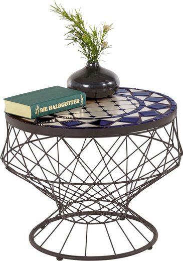Home affaire Beistelltisch, mit Mosaik-Keramik