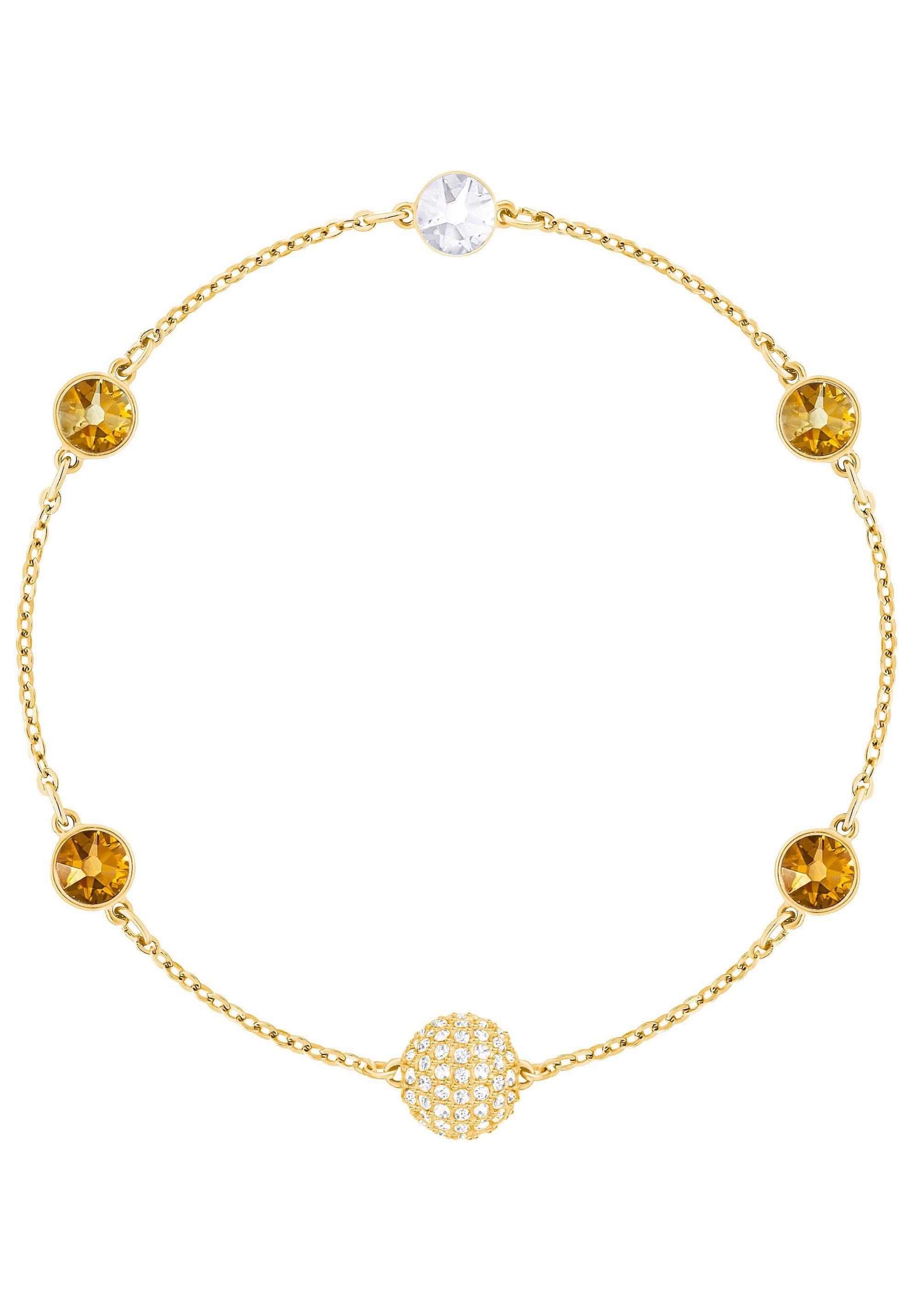 Swarovski Armband »Swarovski Remix Collection Golden, mehrfarbig, vergoldet, 5403221«, mit Swarovski® Kristallen