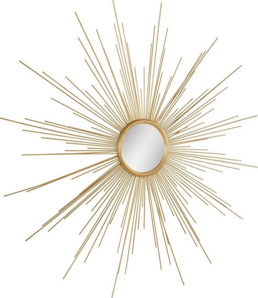 leonique wanddeko spiegel aus metall kaufen otto. Black Bedroom Furniture Sets. Home Design Ideas