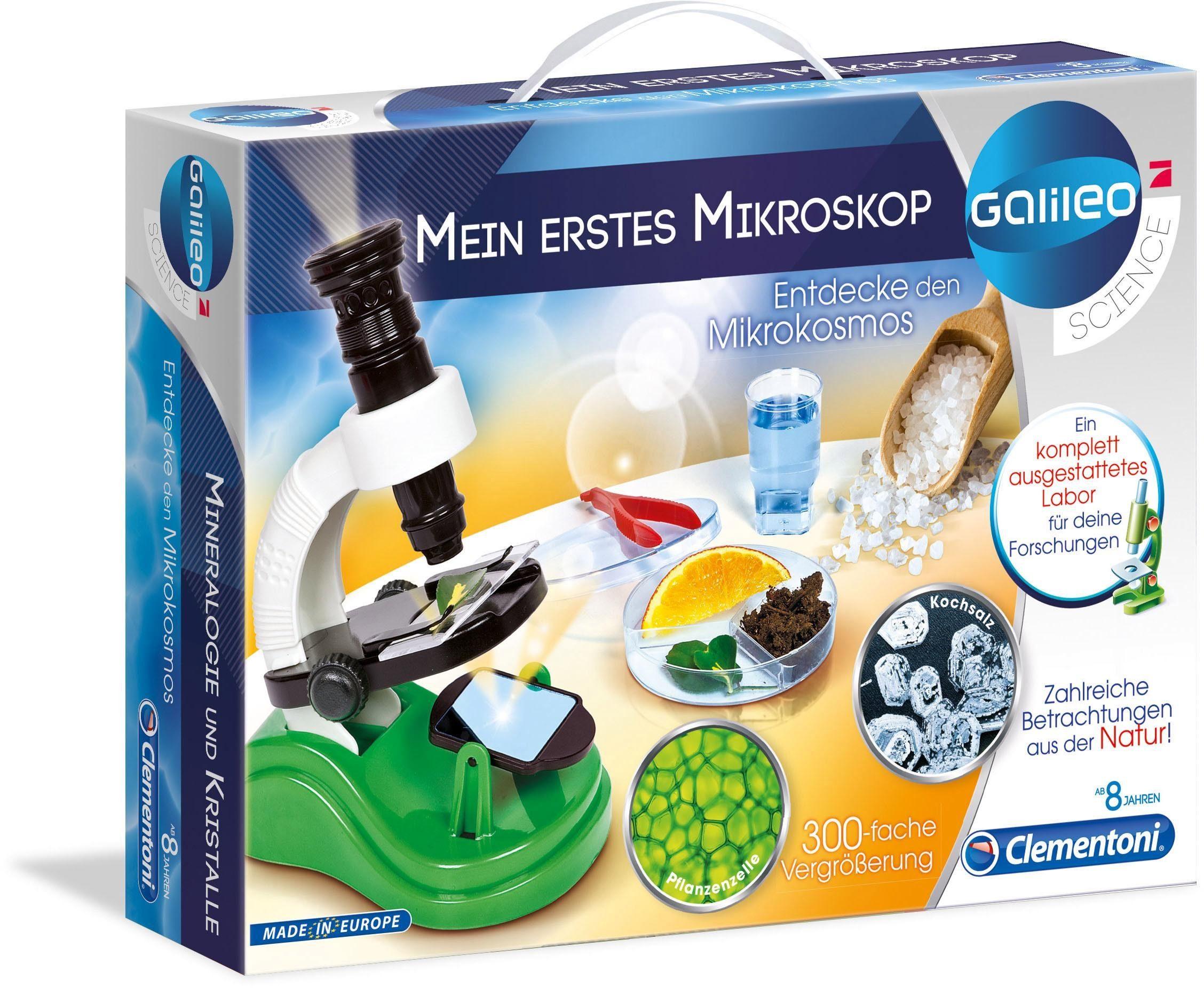 Clementoni Experimentierkasten, »Galileo Mein erstes Mikroskop«