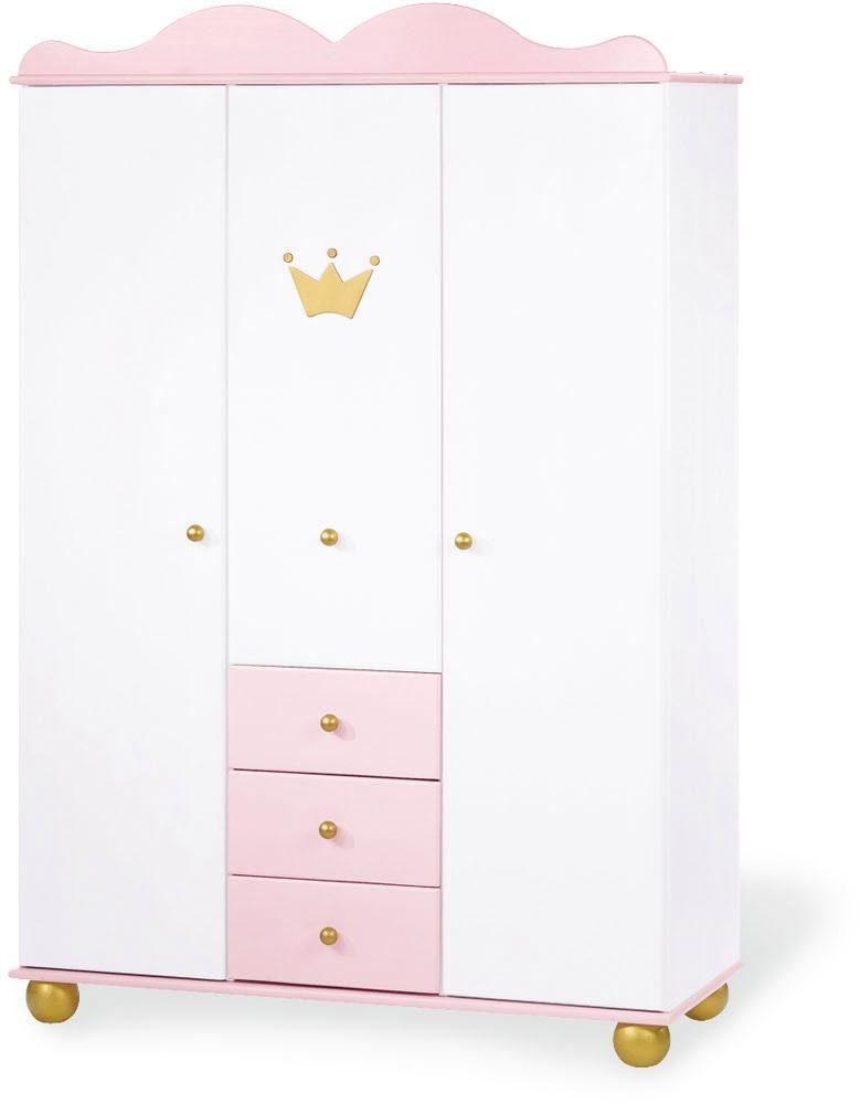 Pinolino Kleiderschrank, 3-türig, »Prinzessin Karolin, groß«