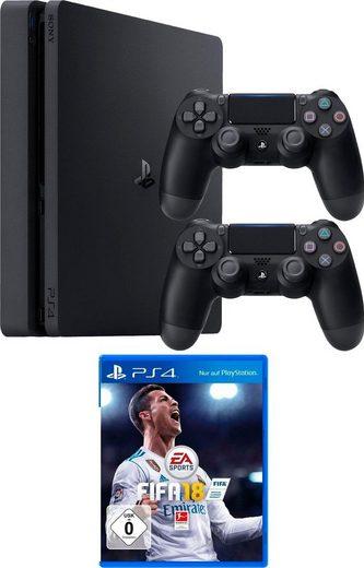 PlayStation 4 Slim (PS4 Slim) 1TB (Konsolen-Bundel, inkl. 2. Controller + FIFA 18)