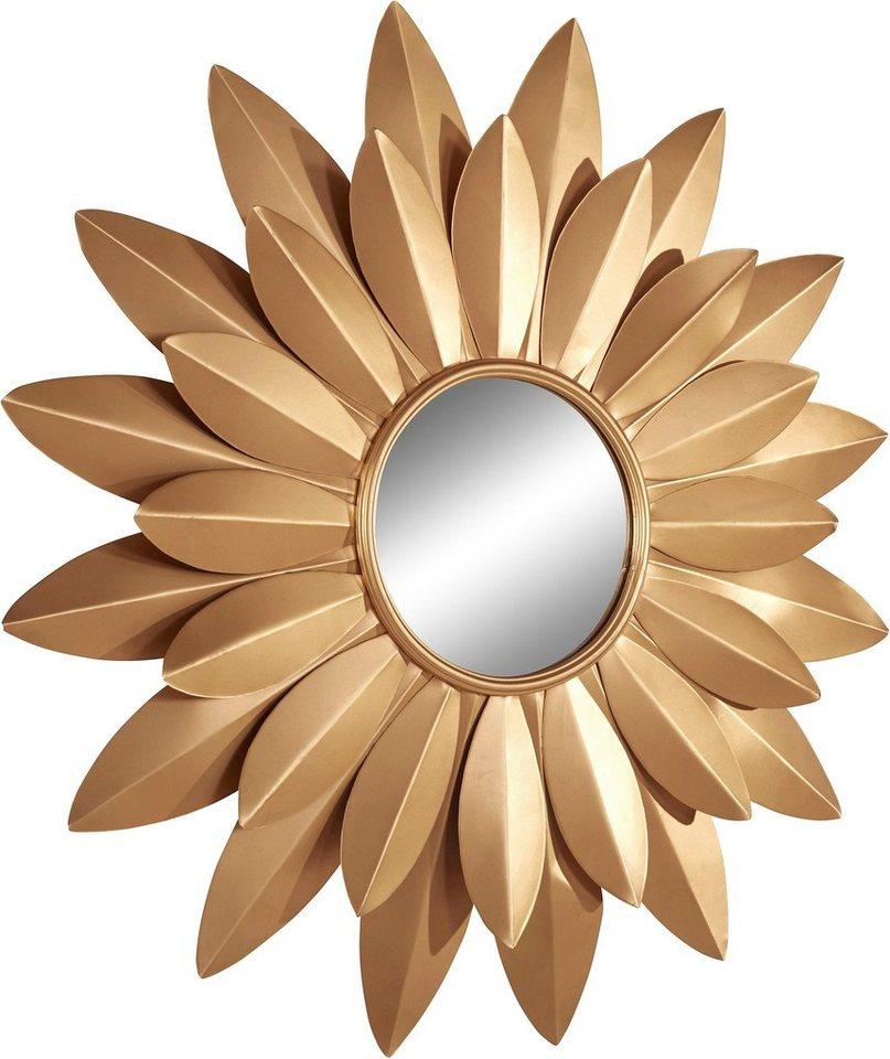 home affaire wanddeko spiegel aus metall ma e t 92. Black Bedroom Furniture Sets. Home Design Ideas
