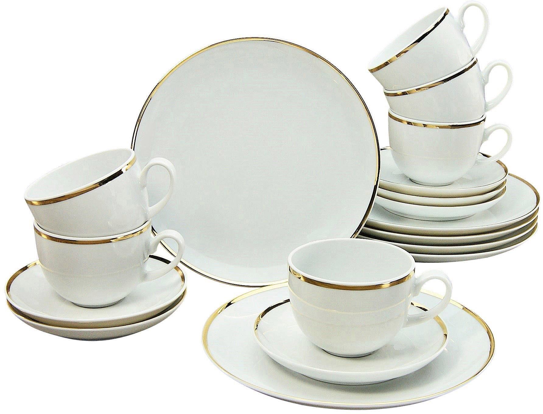 GUIDO MARIA KRETSCHMER HOME & LIVING Kaffeeservice, Porzellan, 18 Teile , »Golden Line«