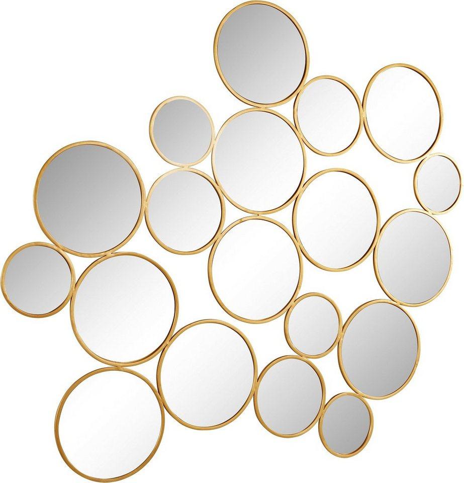 Home affaire wanddeko spiegel kreise aus metall otto - Wanddeko spiegel ...