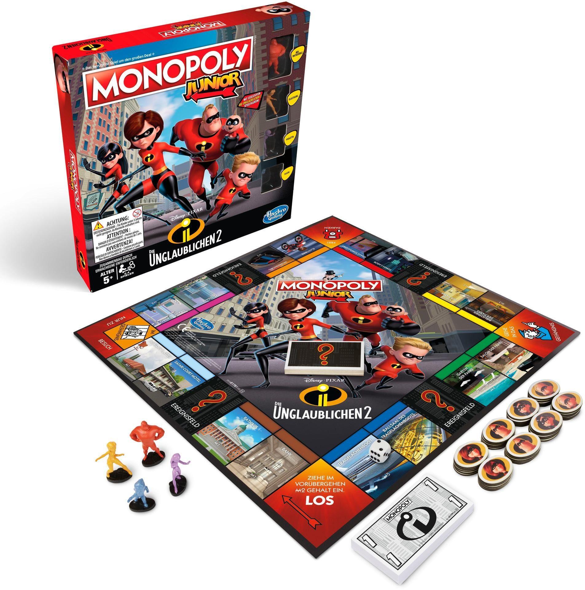 Hasbro Kinderspiel, »Monopoly Junior - Die Unglaublichen«