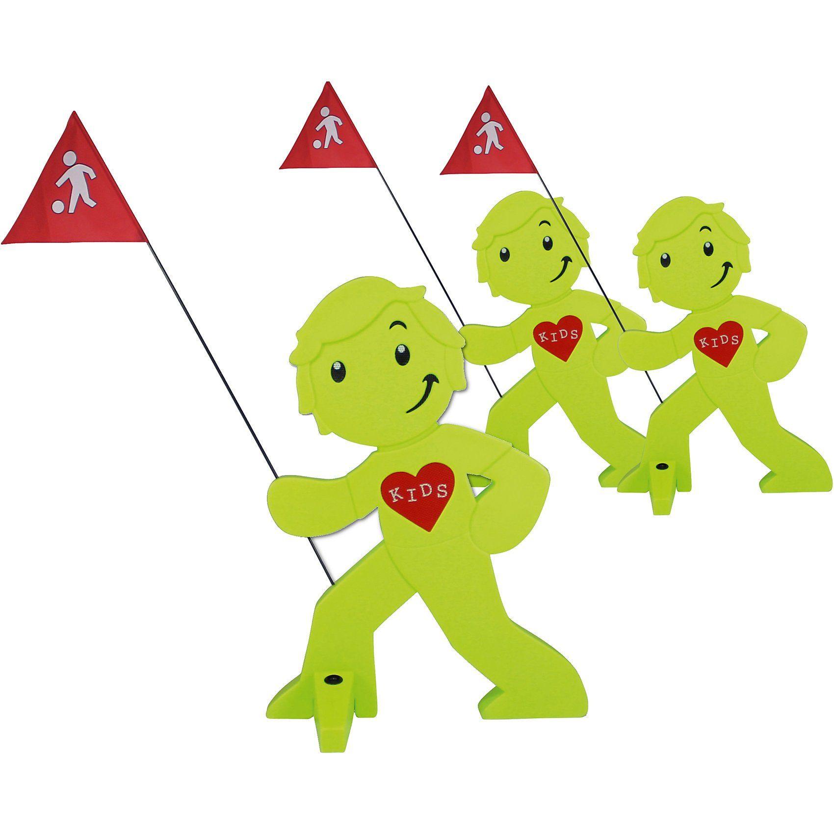 Beachtrekker StreetBuddy Warnfigur für Kindersicherheit, grün, 3 Stück