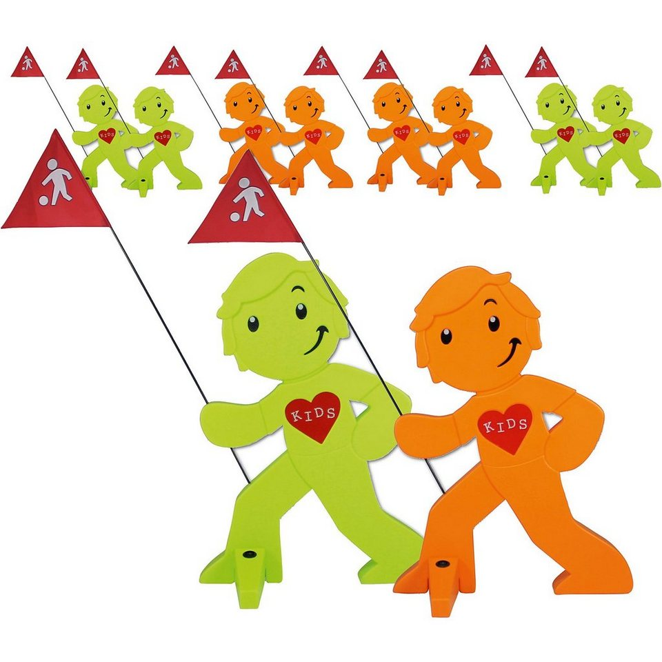 Beachtrekker StreetBuddy Warnfigur für Kindersicherheit, grün/Orange, 10 online kaufen