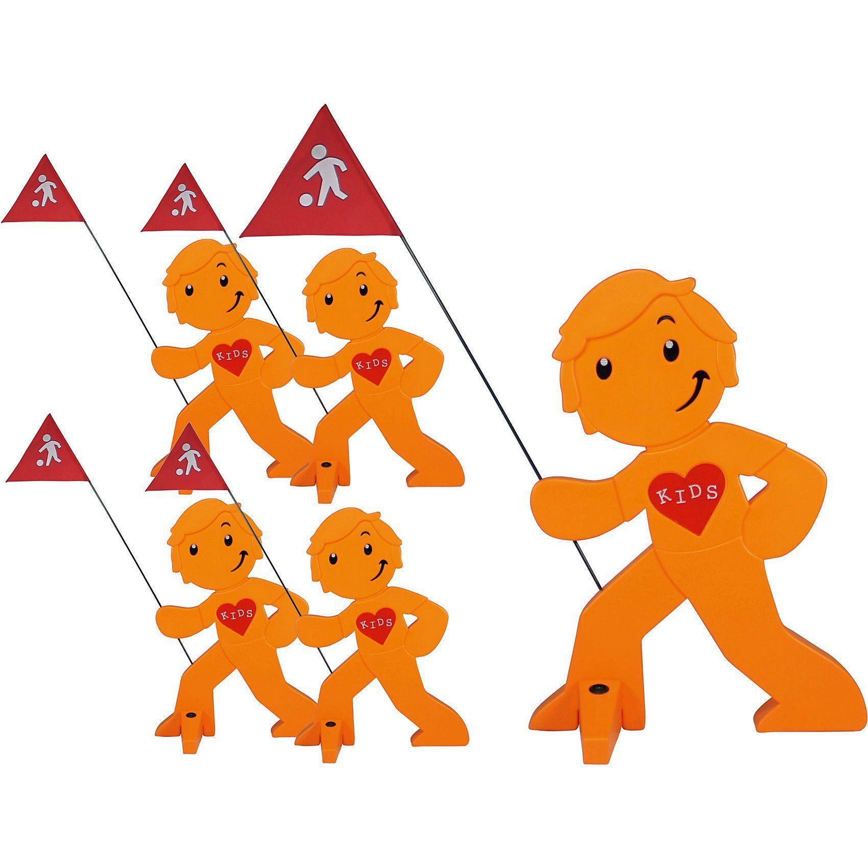 Beachtrekker StreetBuddy Warnfigur für Kindersicherheit, orange, 5 Stück