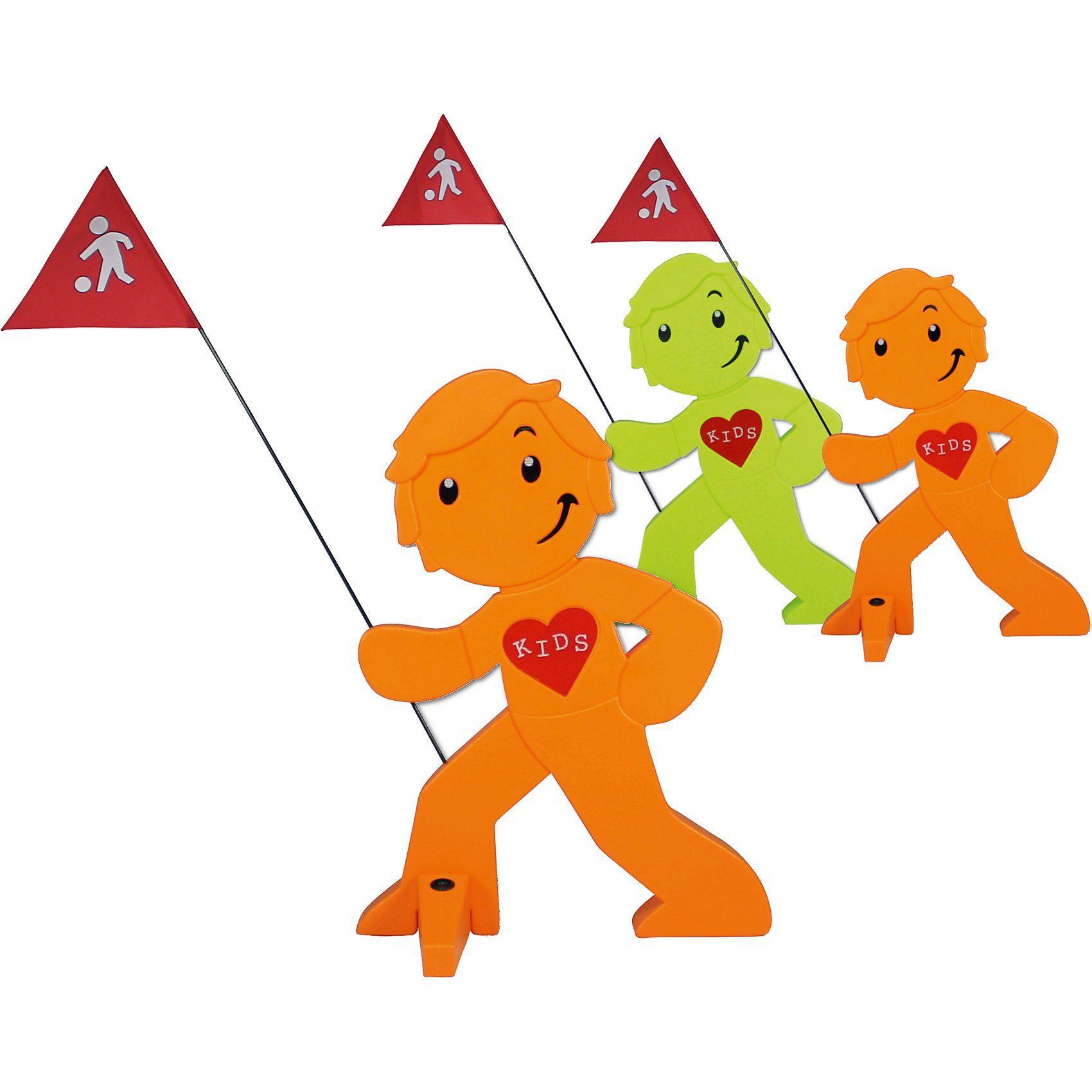 Beachtrekker StreetBuddy Warnfigur für Kindersicherheit, grün/orange, 3 S