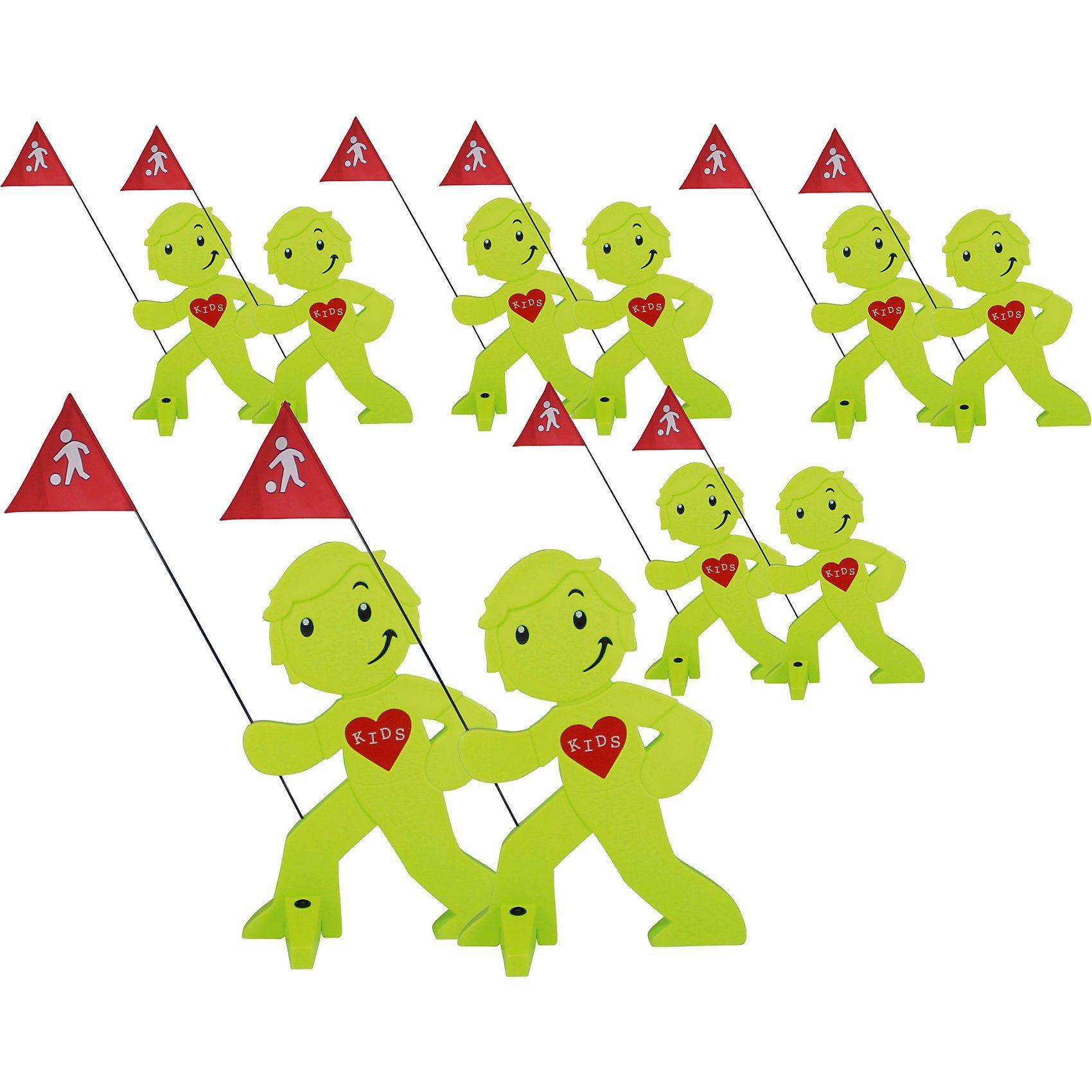 Beachtrekker StreetBuddy Warnfigur für Kindersicherheit, grün, 10 Stück