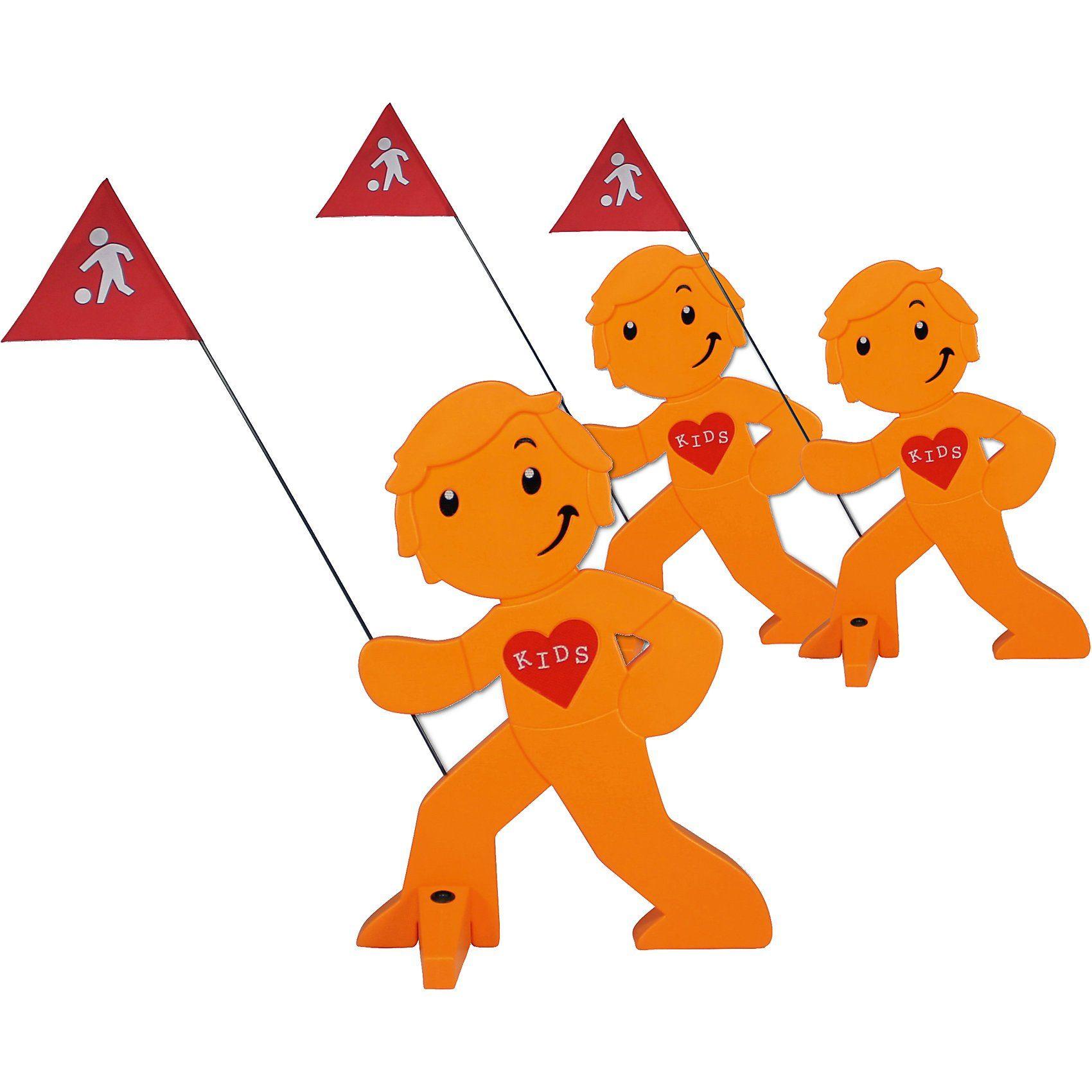 Beachtrekker StreetBuddy Warnfigur für Kindersicherheit, orange, 3 Stück