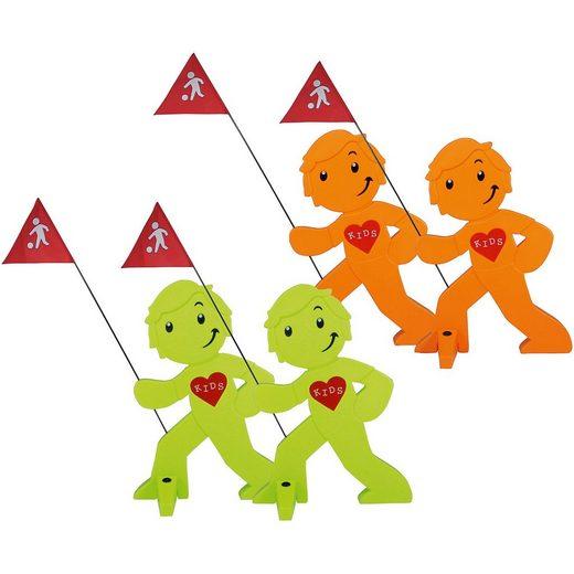 Beachtrekker StreetBuddy Warnfigur für Kindersicherheit, grün/orange, 4 S