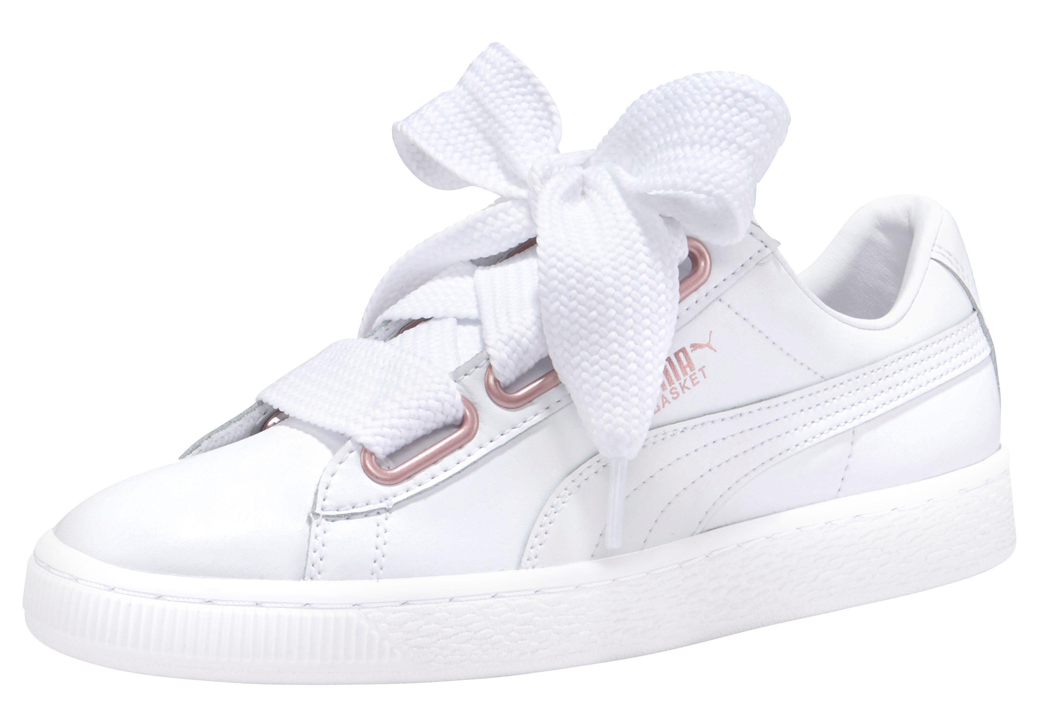 PUMA Basket Heart Leather Sneaker online kaufen  weiß
