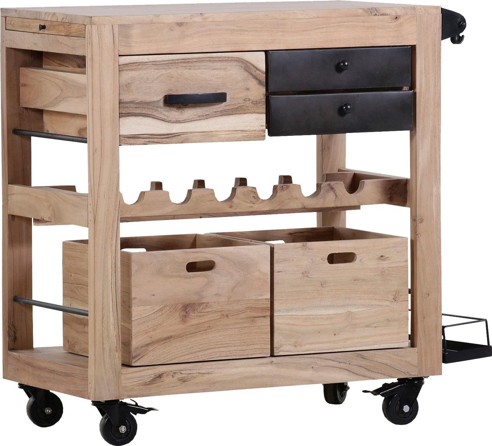 Gutmann Factory Küchenwagen »Trolley4« aus massivem Akazien Holz