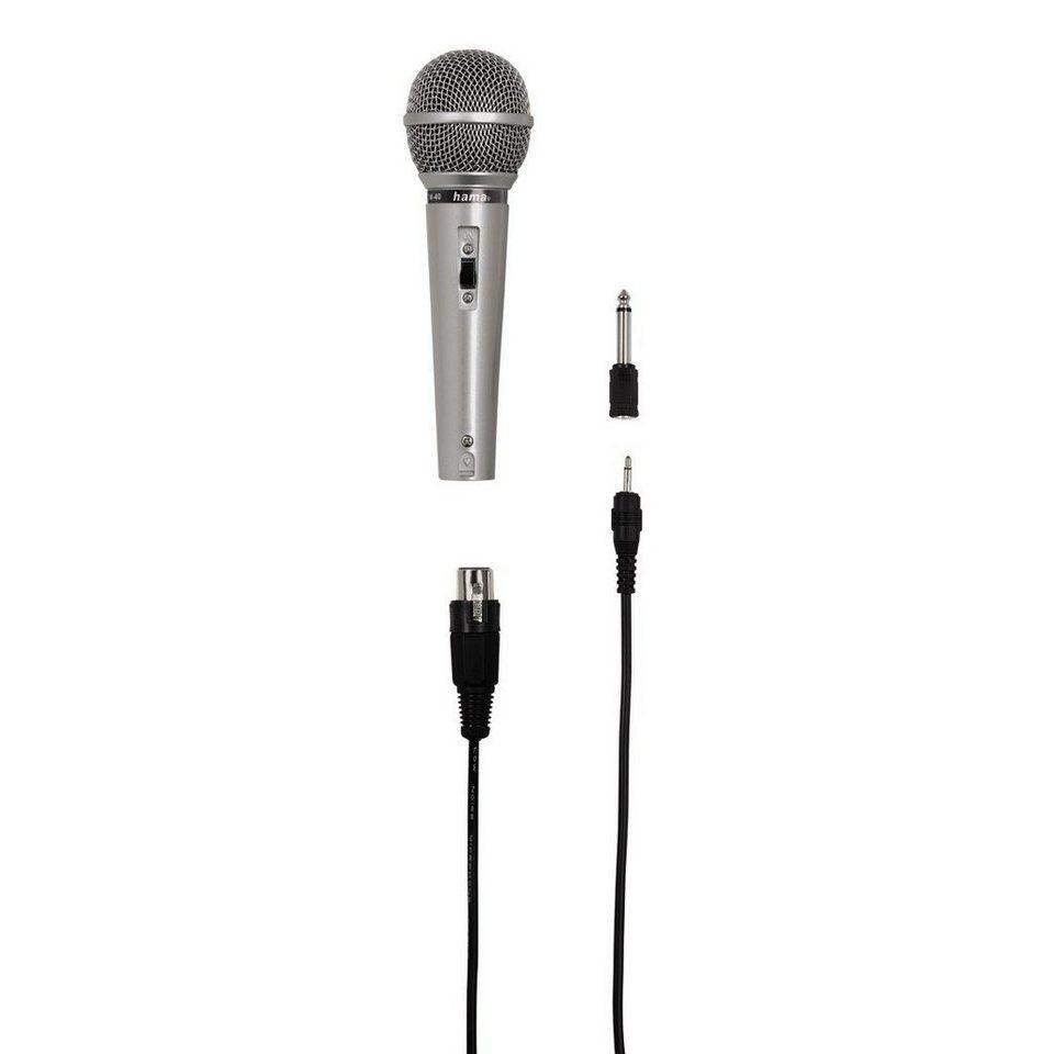 Hama Dynamisches Mikrofon DM 40 in Silber
