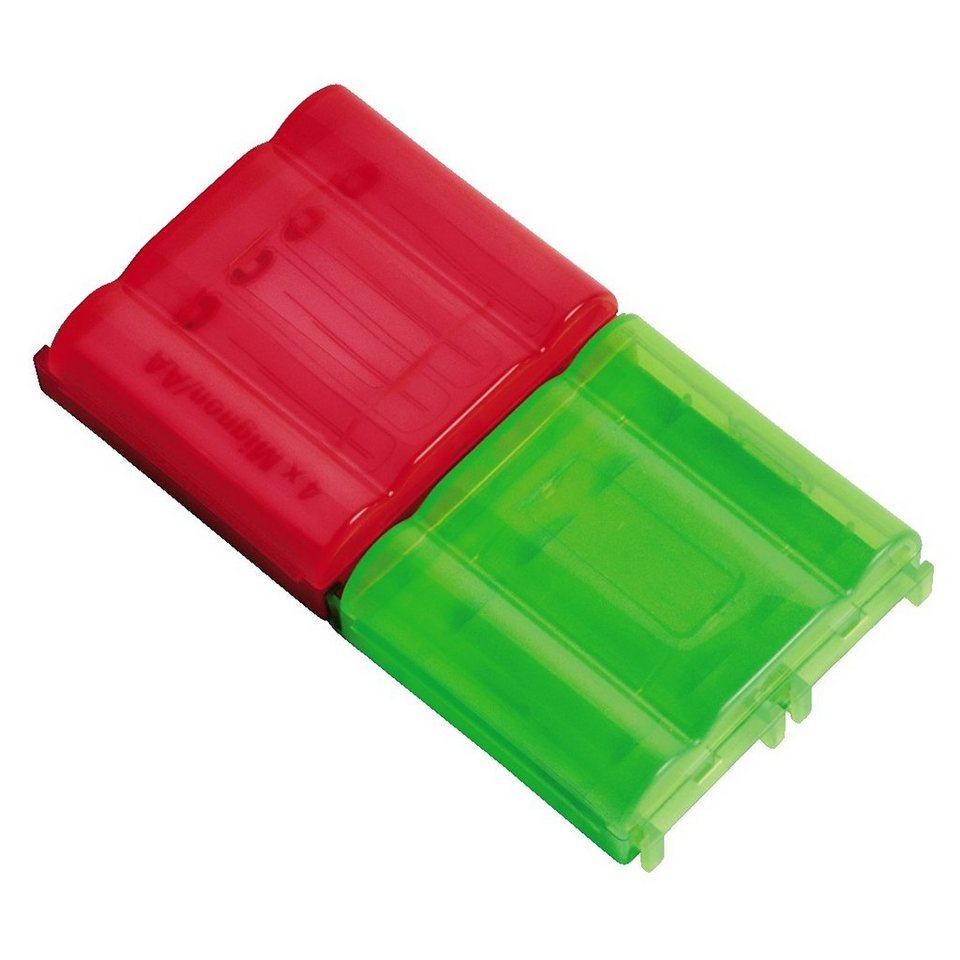 Hama 2 Akkuboxen für je 4x AAA/Micro- oder 4xAA/Mignon-Akkus in Color set