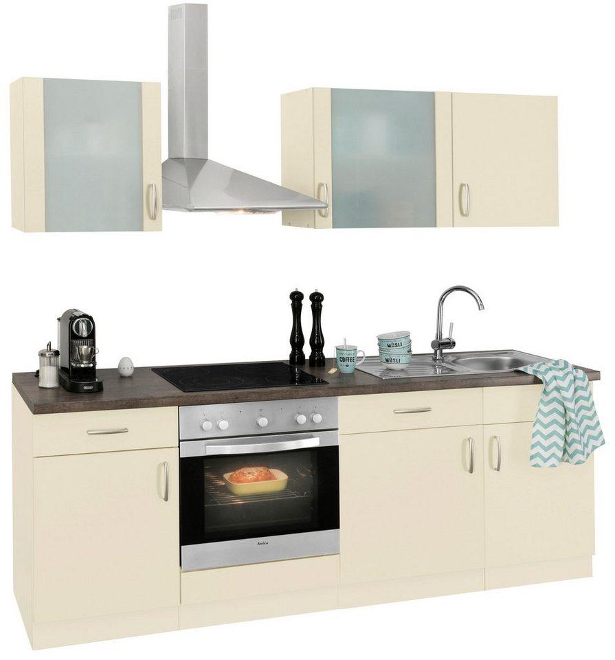 Küchenzeile »Brüssel« mit E-Geräten, Breite 220 cm | OTTO