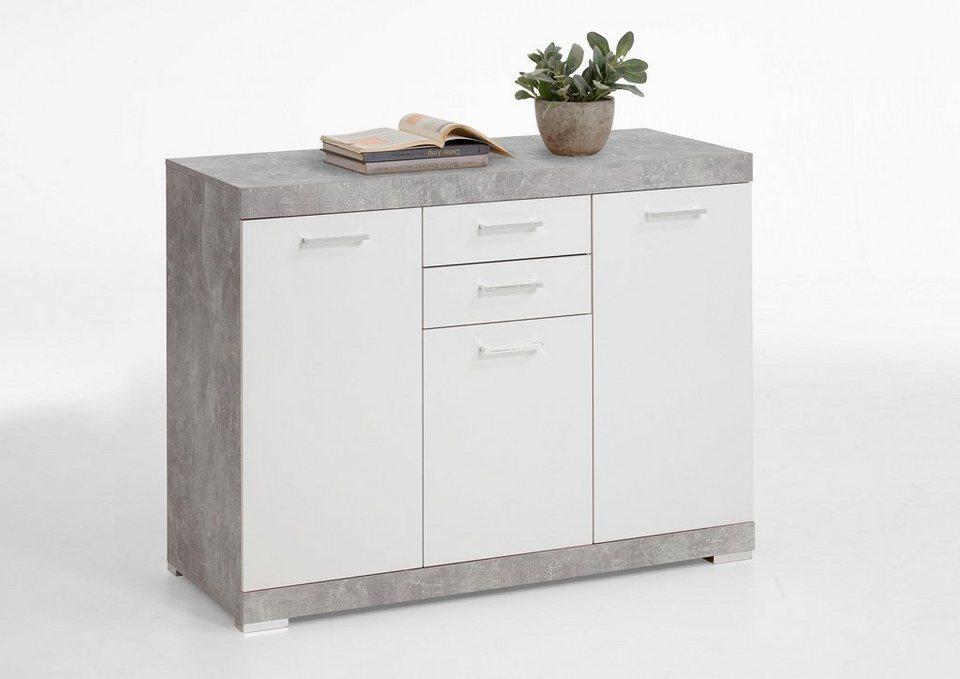 fmd kommode brist breite 120 cm 3 t ren online kaufen otto. Black Bedroom Furniture Sets. Home Design Ideas