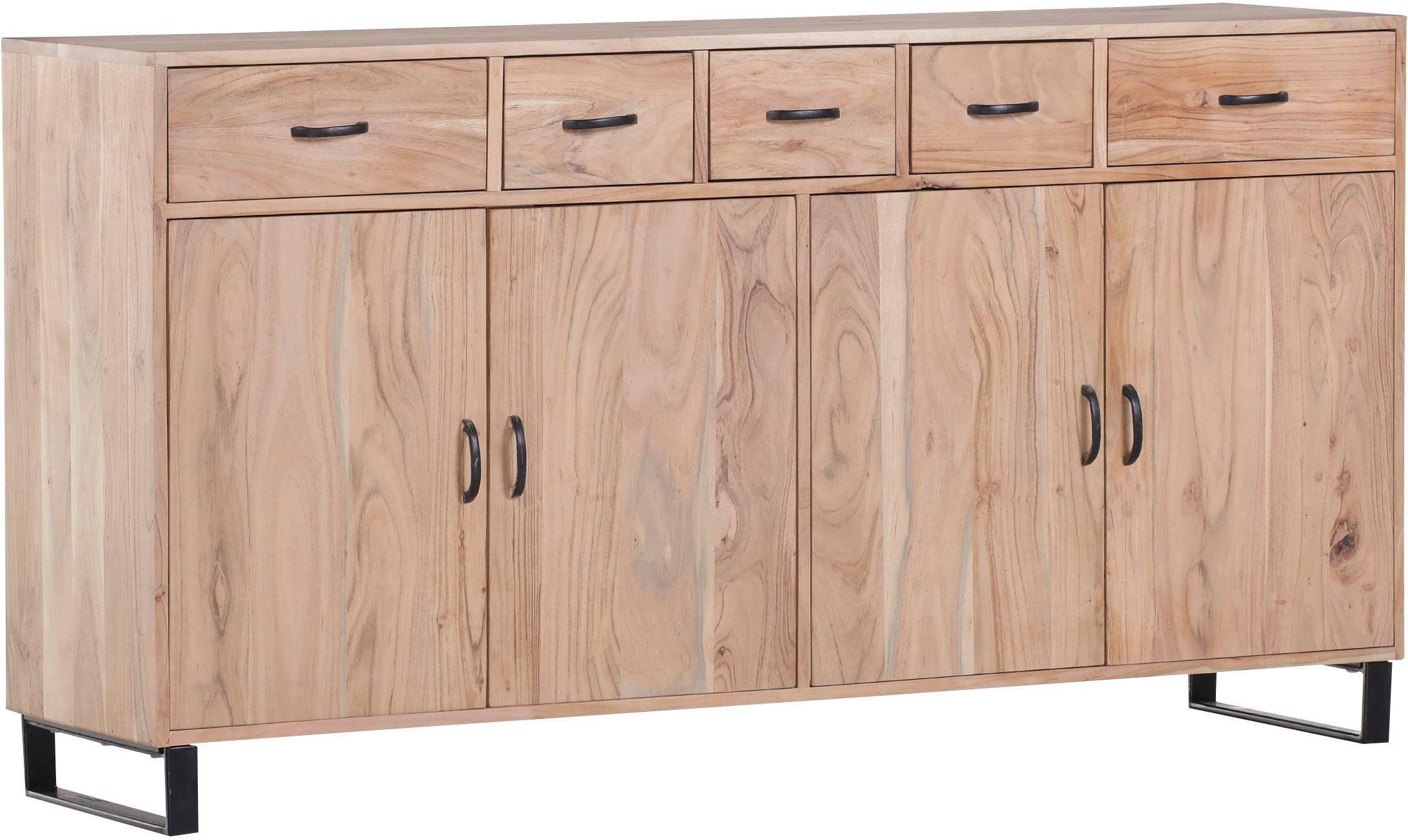Gutmann Factory Sideboard »Georgia« aus massivem Akazienholz, Breite 165 cm