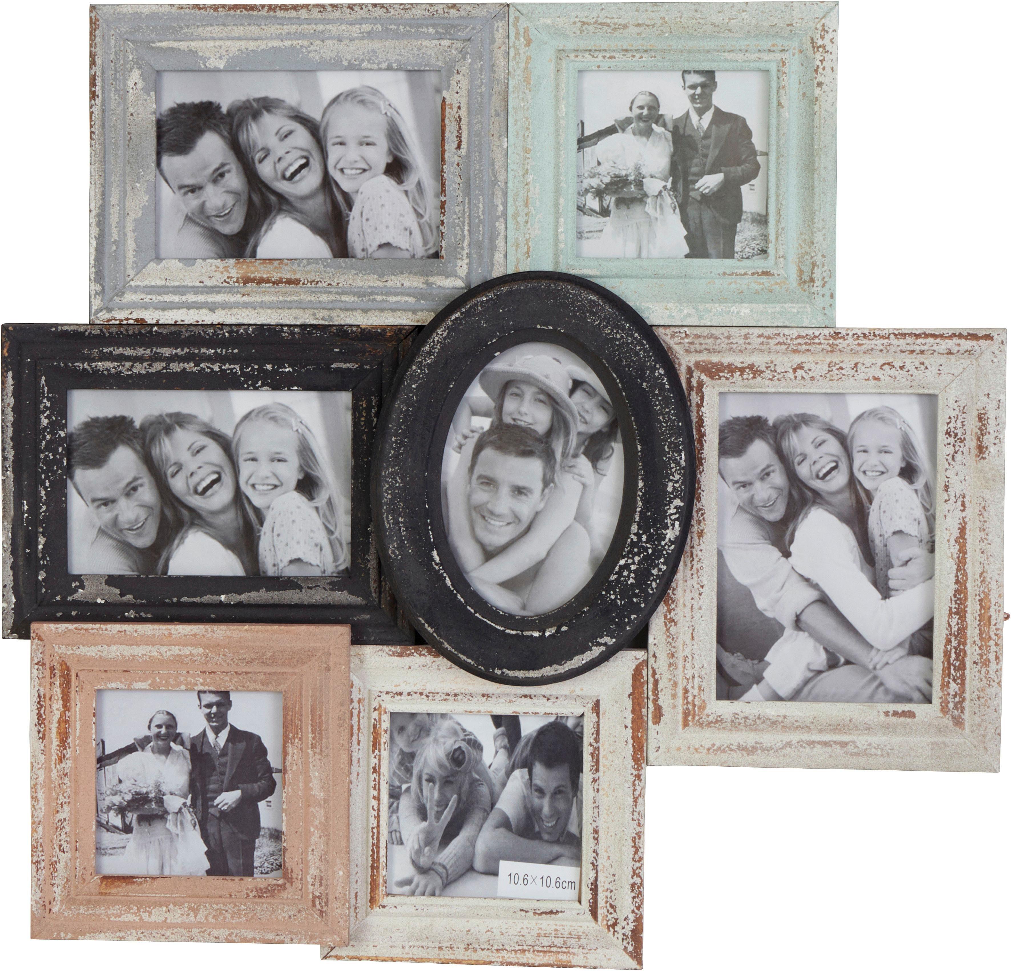 Home affaire Galerierahmen mit Antik-Finish, für 7 Fotos