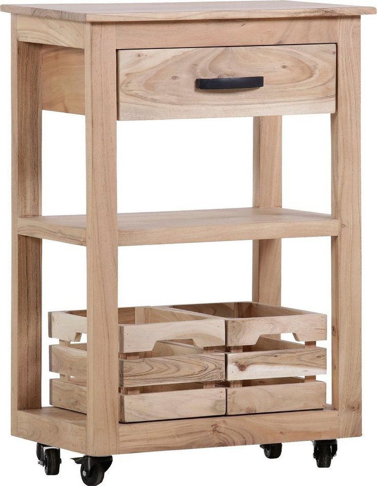 gutmann factory k chenwagen trolley2 aus massivem akazien holz online kaufen otto. Black Bedroom Furniture Sets. Home Design Ideas