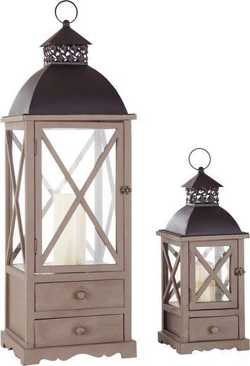 gutmann factory laternen im 2er set xxl format 102 cm und 57 cm online kaufen otto. Black Bedroom Furniture Sets. Home Design Ideas