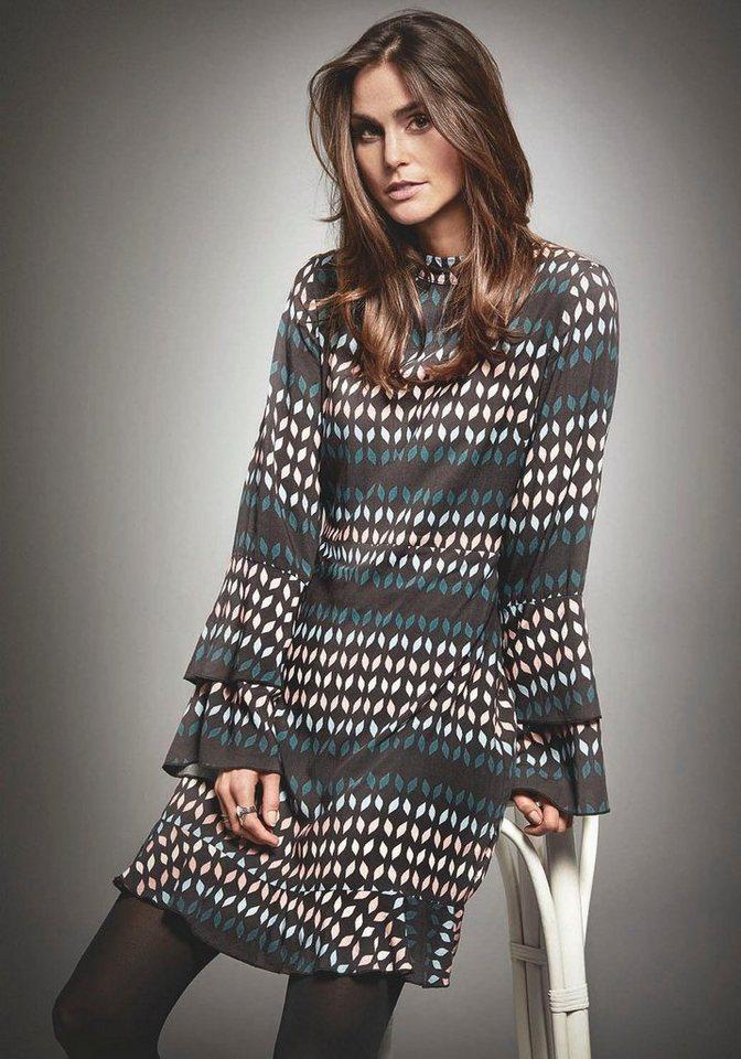 broadway nyc fashion druckkleid kayla mit romantischen volants online kaufen otto. Black Bedroom Furniture Sets. Home Design Ideas